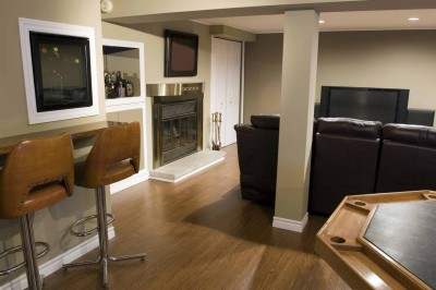 contemporary-basement-remodel-dc